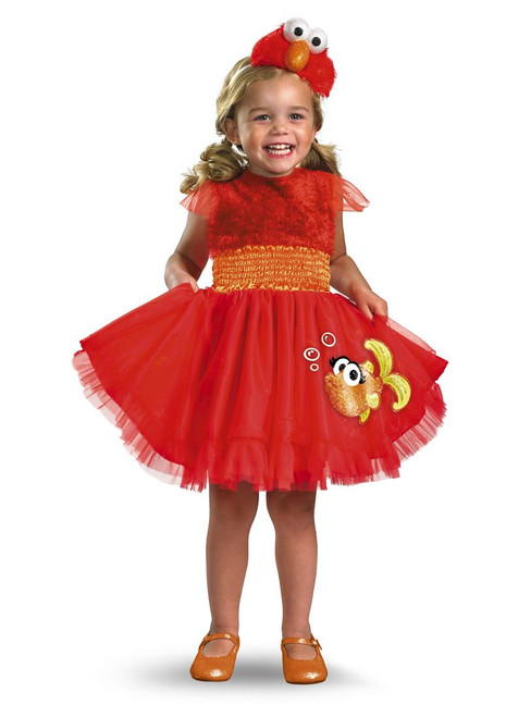 Disguise Sesame Street Girls Frilly Elmo Costume Small 2T