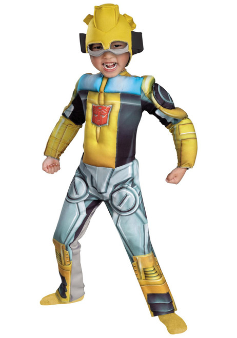 Disguise Costumes Bumblebee Rescue Bot Toddler Muscle Costume  Medium 3-4T