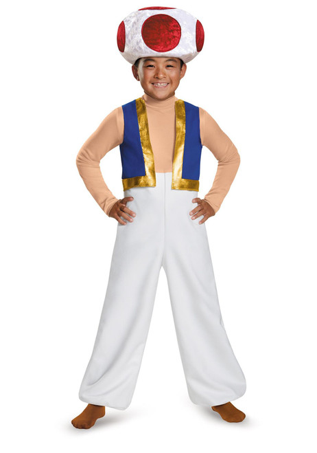 Disguise Super Mario Bros Toad Deluxe Child Halloween Costume Small (4-6)