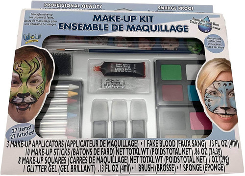 Wolfe FX Professional Quality Face Painting Makeup Kit - Box of 25 Items