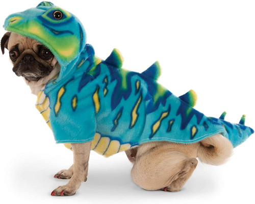 Blue Dinosaur T-Rex Pet Dog Cat Halloween Costume Hoodie Sweater