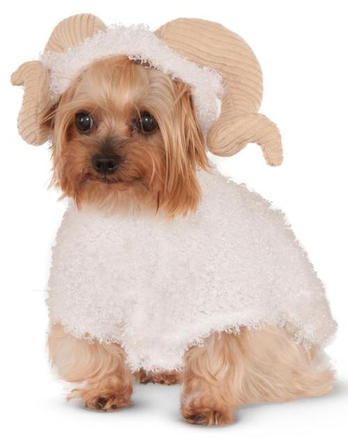 Rubie's Costume Company Ram Hoodie for Pet Halloween Costume