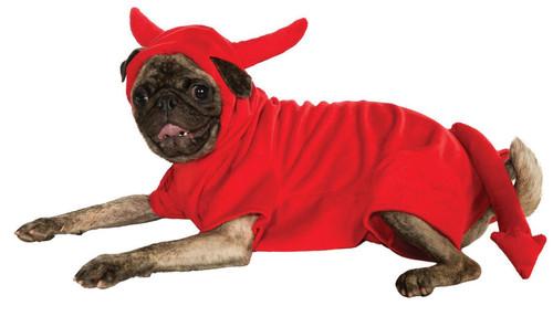 Devil Dawg Pet Dog Cat Lucifer Red Halloween Costume Hoodie