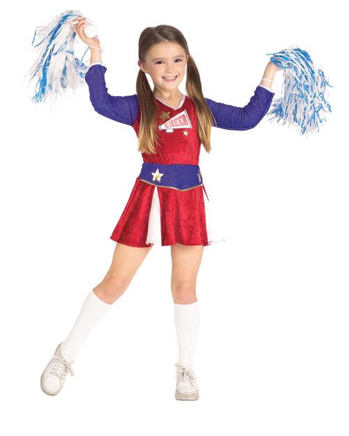 Rubies Costume Girls Kids Cheerleader Costume Child Halloween