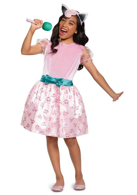 Disguise Jigglypuff Girls Child Grass Pokmon Video Game Halloween Costume Dress Medium