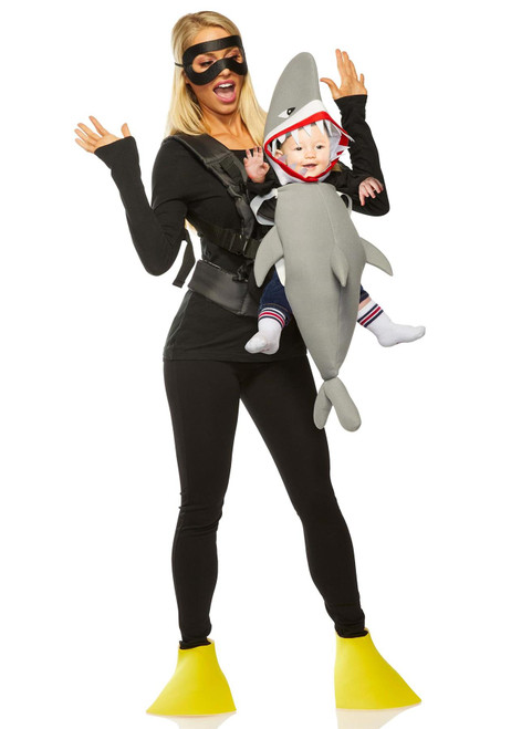 Shark and Diver Daddy Mommy & Me Baby Carrier Halloween Costume