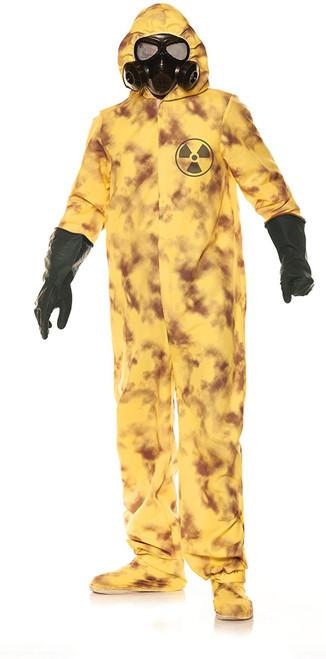 UnderWraps Men's Virus Containment Unit Yellow Hazmat Suit Halloween Costume Standard One Size