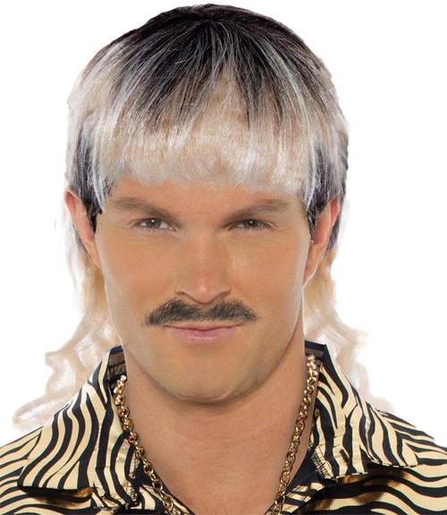 Adult Mens King Tiger Trainer White Trash Costume Blonde Exotic Brown Mullet Wig