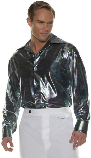 Underwraps Adult Disco Shirt Costume Halloween Fancy Dress Party