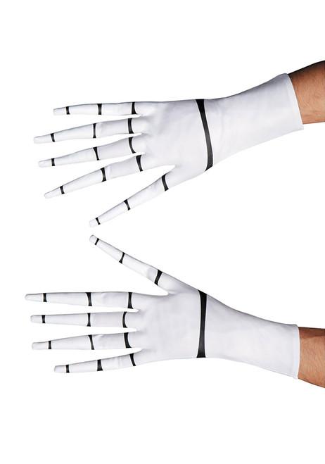 Jack Skellington Adult Halloween Costume White and Black Gloves