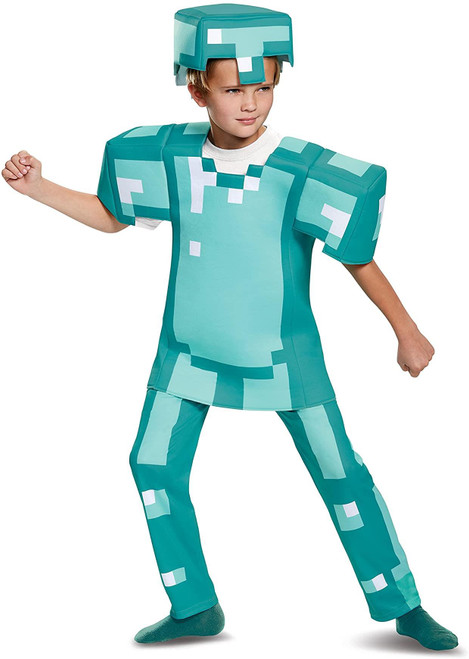 Deluxe Minecraft Armor Kid's Costume (4-6)