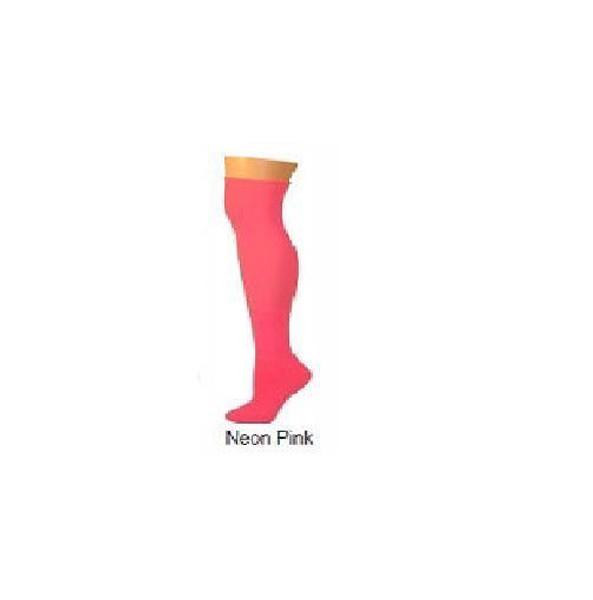 solid neon pink acrylic halloween ADULT SOCKS costume