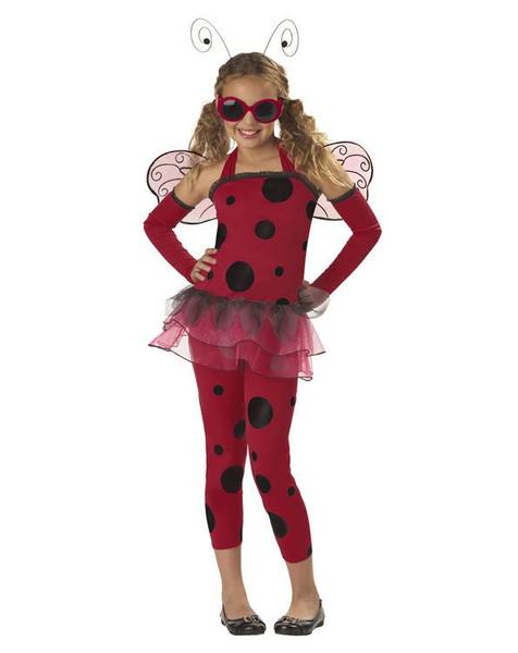 LOVE BUG ladybug dress girls kids costume Halloween XS