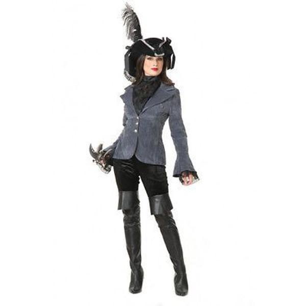 PIRATE VIXEN JACKET renaissance medieval lady coat womens halloween costume M