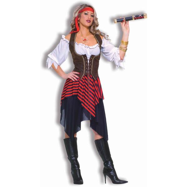 BUCCANEER PIRATE renaissance blouse skirt womens adult wench halloween costume
