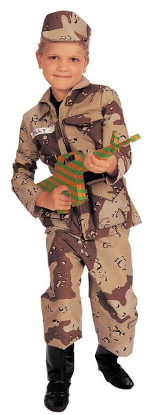 Special Forces Army Camo Boys Military Costume