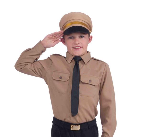 Tan Army Officer Boy's Uniform