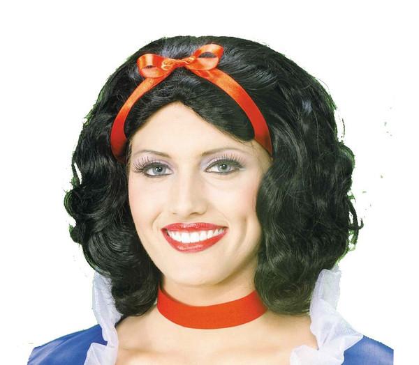 SNOW WHITE WIG short black hair womens halloween princess accessory costume