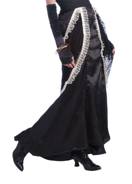 VICTORIAN LACE SKIRT black long steampunk vampire saloon womens costume dress