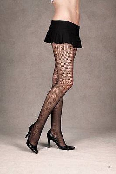 TWO black FISHNET STOCKINGS tights pantyhose hose womens sexy halloween costume