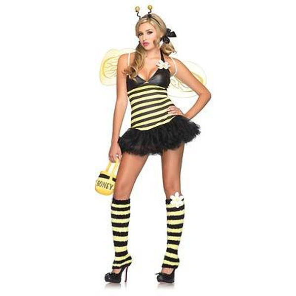 BUMBLE BEE bumblebee petticoat dress daisy sexy womens halloween costume M/L