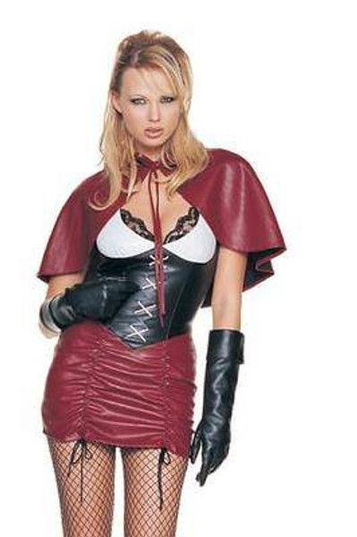 LITTLE RED RIDING HOOD gothic goth evil womens sexy halloween costume SMALL 4-6
