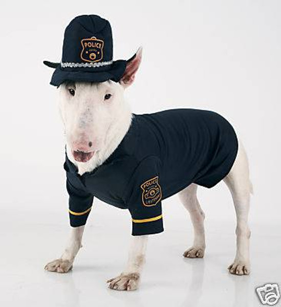 pet DOG puppy animal police cop halloween costume S