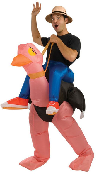 INFLATABLE OSTRICH funny humor adult mens womens animal halloween costume