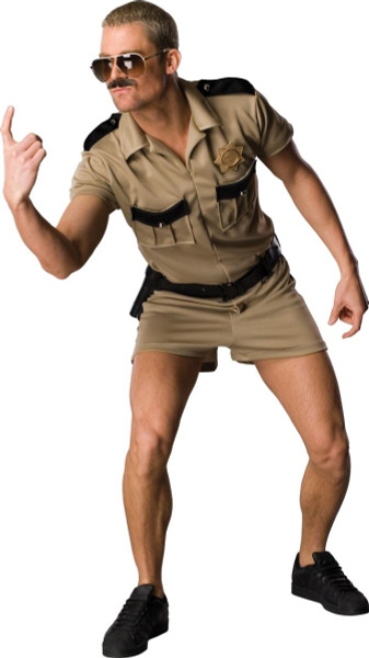 LT. DANGLE reno 911 cop police uniform shorts comedy police mens halloween costume