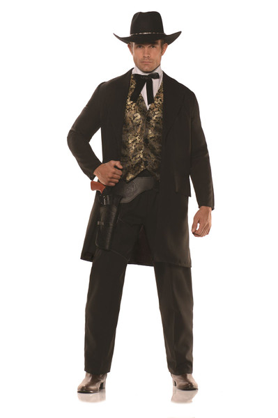 Gambler Western Jacket Set Adult Mens Halloween Costume