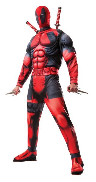 Deluxe Muscle Chest Adult Mens Deadpool Costume