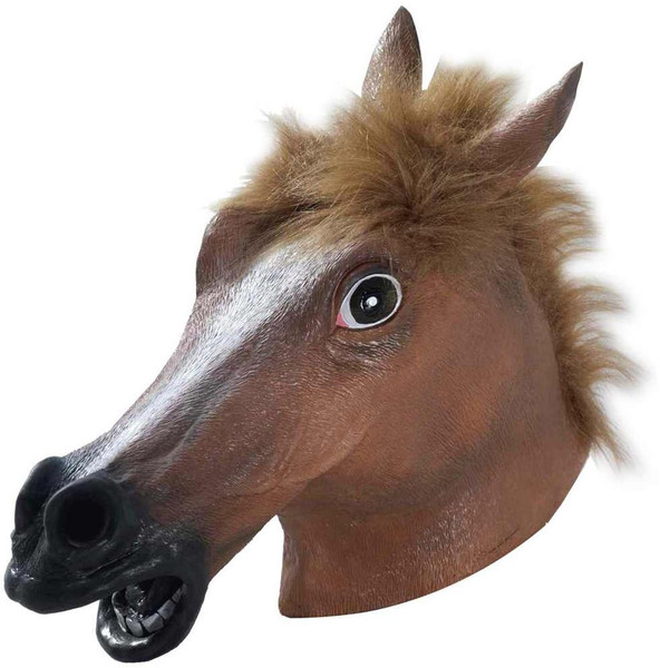 Deluxe Latex Horse Head Mask Adult Costume Accessory