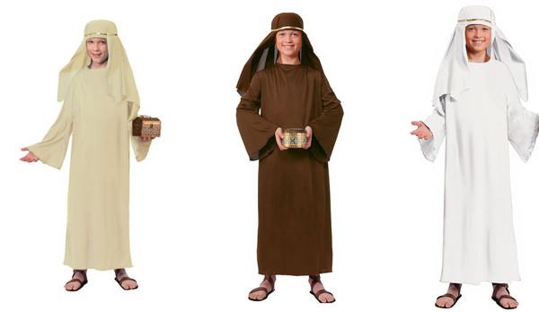 Kids  Wiseman Costume Robe & Headpiece
