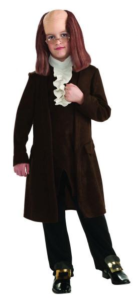 Benjamin Franklin founding father kids boys Halloween School Costume