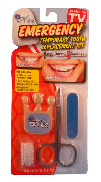 Instant Smile Emergency Temporary Tooth Replacement Kit Teeth