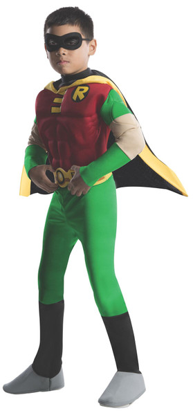 Deluxe Muscle Chest Kids Robin Costume - Teen Titans Go