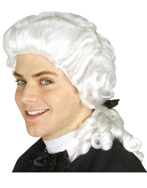 COLONIAL WIG judge renaissance ghost george washington costume accessory
