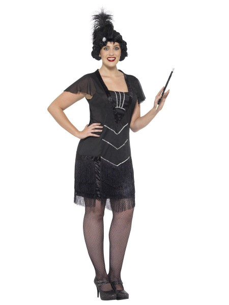 20s Curves Flapper Costume Dress and Headpiece X-Large