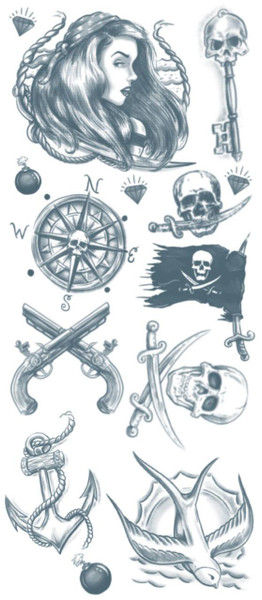 Pirate Costume Tattoo FX Kit