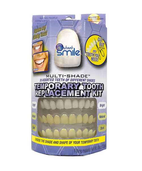 Instant Smile 30 Assorted Temporary Tooth Kit Deluxe 3 Shades Replacement Kit