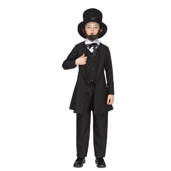 Little Boys Abe Lincoln American President Costume Childrens Costume