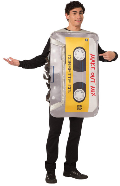Retro Cassette Mix Tape Adult Costume - One Size