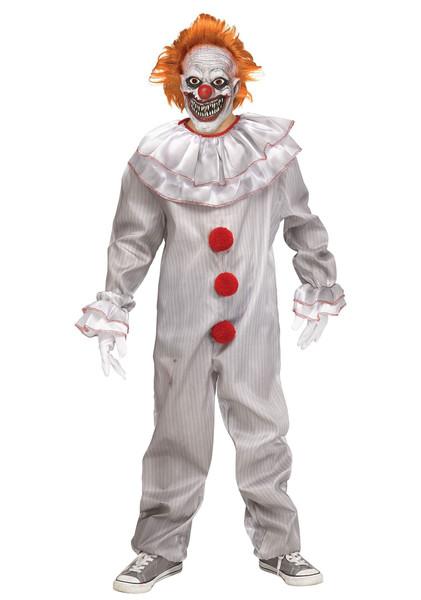 Carnevil Killer Boys Evil Clown IT Pennywise Costume