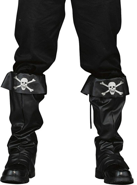 Skull and Crossbones Adult Pirate Boott Covers