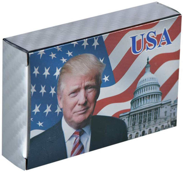 SW Donald Trump Playing Cards - Silver Playing Cards Deck of Waterproof Poker Cards