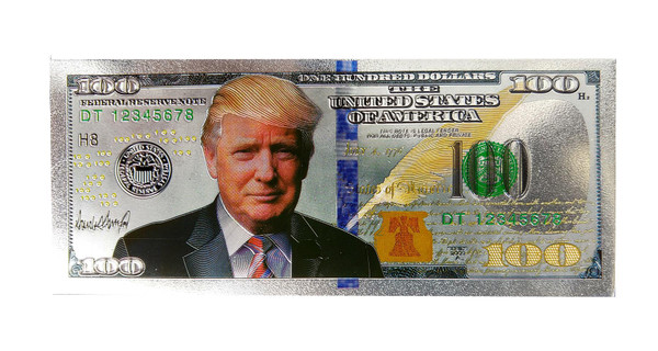 President Donald Trump Novelty $100 Dollar Bill Fridge Magnet
