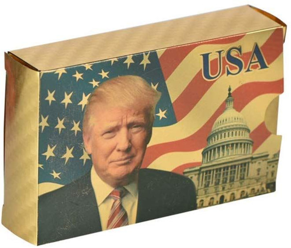 SW Donald Trump Playing Cards - Gold Plated Playing Cards Gold Plated Deck of Waterproof Poker Cards
