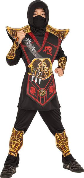 Rubies Costume Child's Battle Ninja Costume, Multicolor
