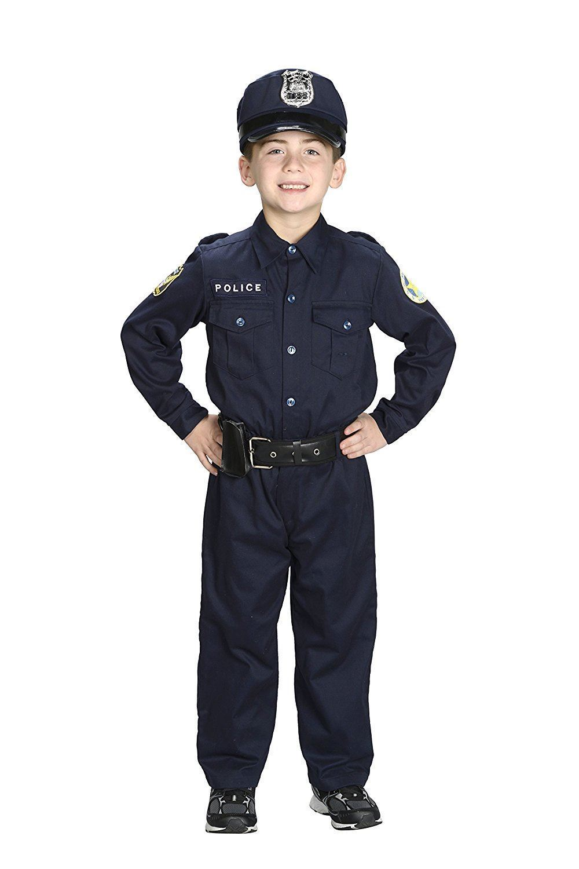 Jr POLICE Cap HAT cop officer blue kids girls boys halloween costume