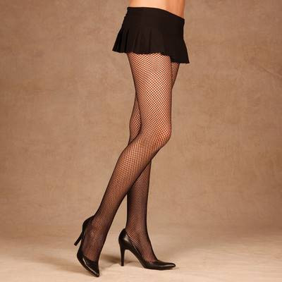 6dce4afb505 ONE black FISHNET STOCKINGS tights pantyhose hose womens sexy halloween  costume